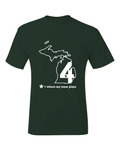 Michigan East Lansing Where My Team Plays Green & White Basketball Final Four T-Shirt