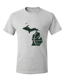 Michigan Basketball Dark Green & White T-Shirt