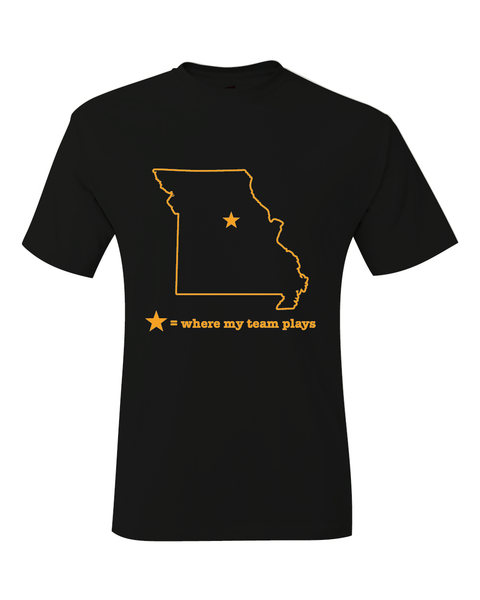 Missouri Columbia Where My Team Plays T-Shirt