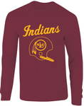 NLU Northeast Louisiana University Indians Throwback Helmet Long Sleeve T-Shirt