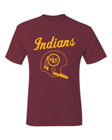 NLU Northeast Louisiana University Indians Throwback Helmet T-Shirt