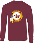NLU Northeast Louisiana University Maroon Throwback Logo Long Sleeve T-Shirt