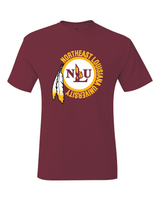 NLU Northeast Louisiana University Maroon Throwback Logo T-Shirt