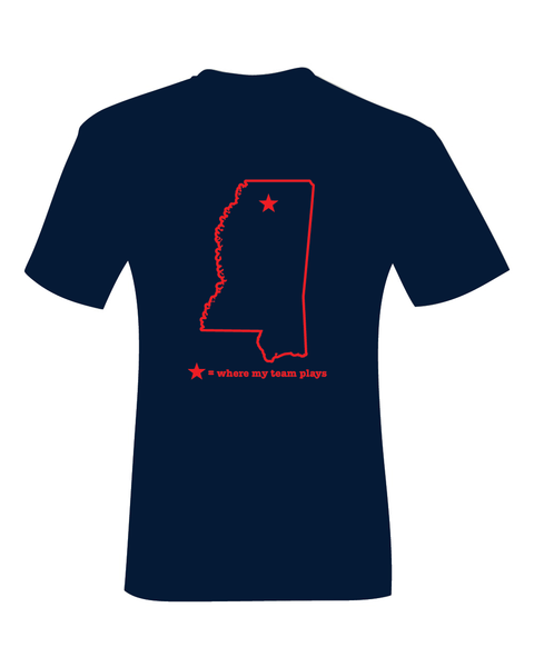 Oxford Mississippi Where My Team Plays T-Shirt