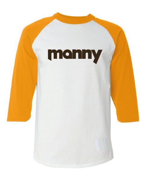 Manny San Diego Inspired Throwback Raglan T-Shirt