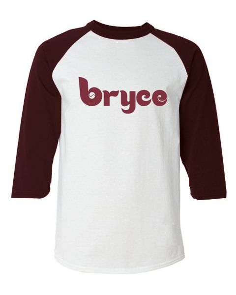 Bryce Philadelphia Inspired Throwback Raglan T-Shirt
