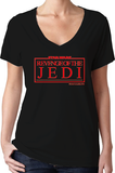 Revenge Of The Jedi Women's Black V-Neck T-Shirt