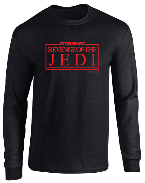 Revenge of the Jedi Classic 1983 Logo Long Sleeve T-Shirt