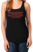 Stranger Things Season 1 Logo Women's Black Racerback Tank Top