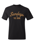 Sundays In The Dome Saints Inspired New Orleans T-Shirt