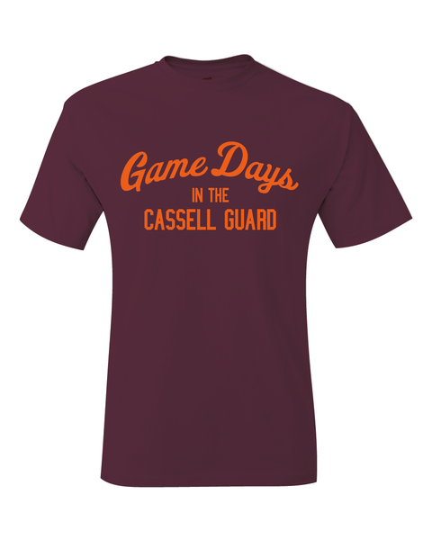 Virginia Tech Inspired Game Days In The Cassell Guard T-Shirt