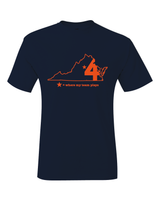Virginia Charlottesville Where My Team Plays Basketball Final Four T-Shirt