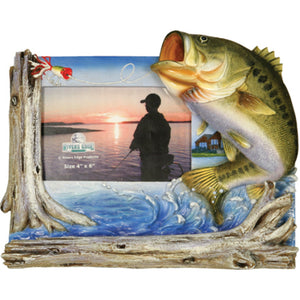 Rivers Edge 4inX6in Bass Picture Frame 470