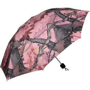 Rivers Edge 42in Compact Folding Pink Camo Umbrella