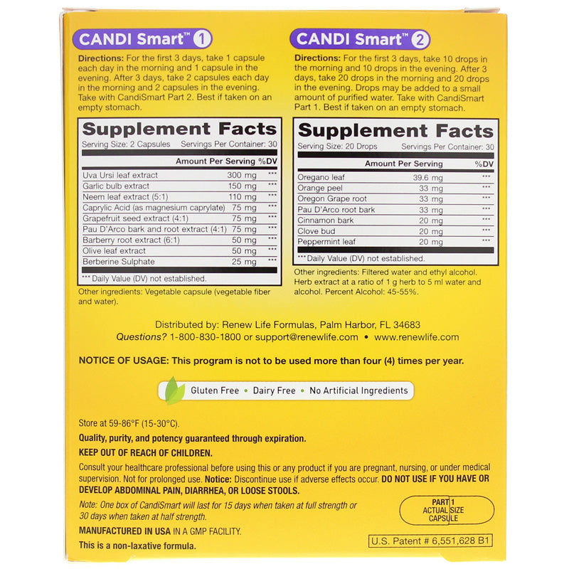 Renew Life Candismart Yeast Cleansing Formula Bwell4ever