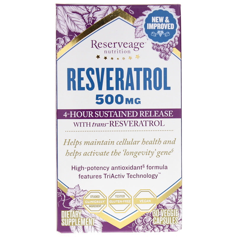 Reserveage Nutrition Resveratrol 500 Mg Bwell4ever
