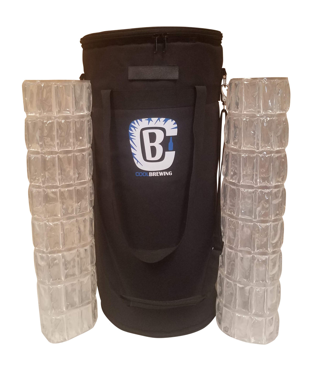 CoolBrewCorny 5G 3.0 Keg Cooler BUNDLE with 2 IMPROVED Ice Wraps!