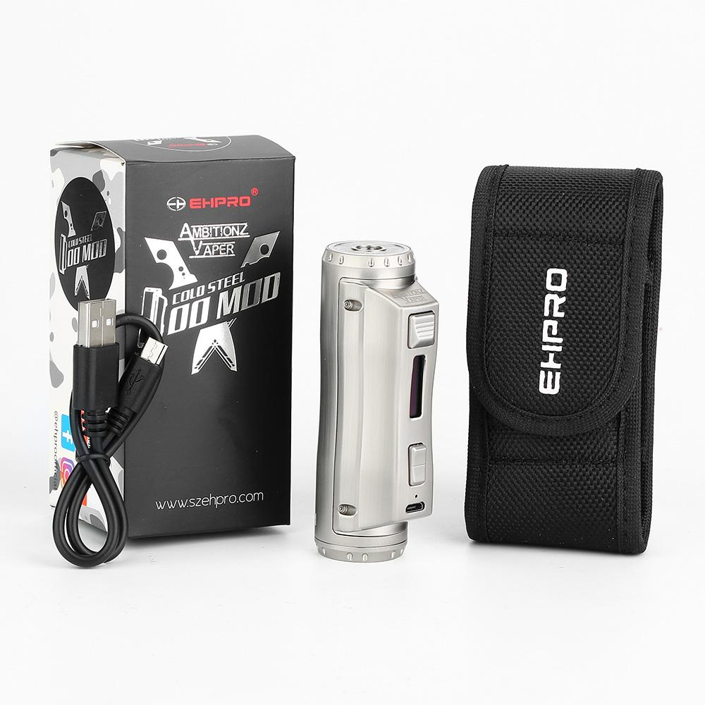 Ehpro Cold Steel 100 120W TC Box MOD 21700