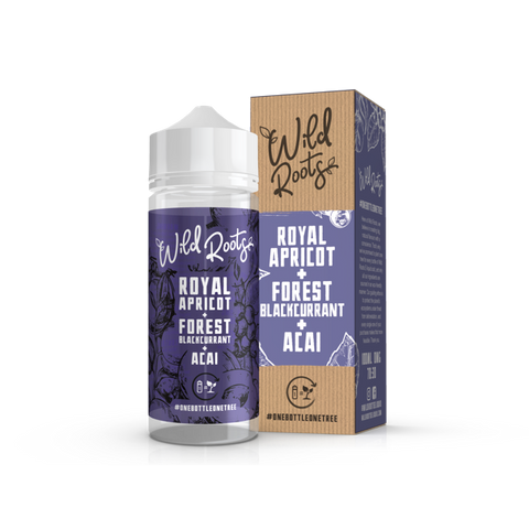 Wild Roots Royal Apricot with Forest Blackcurrant and Acia100ml Shortfill
