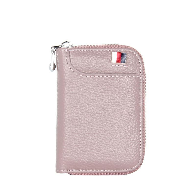 Women's RFID Card Holders Casual Cattlehide Pocket Zipper Wallet  - Marfuny