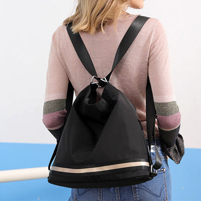 Women's Stylish Solid Waterproof Nylon Bags Multifunctional Zipper Backpack - Marfuny