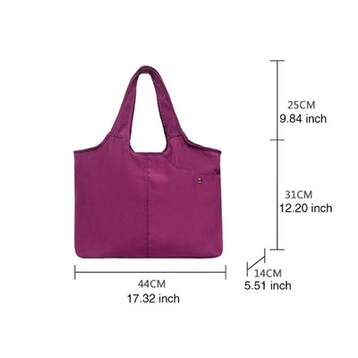 Women's Daily Life Waterproof Nylon Bag Solid Large Capacity Zipper Shoulder Bags - Marfuny