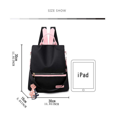 Women's Daily Life Oxford Waterproof Multifunction Anti-theft Zipper Backpack(Get 2nd one 20% off) - Marfuny