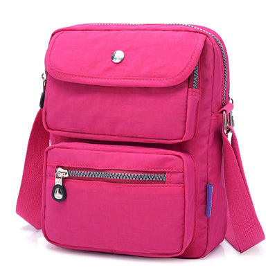 Women's Solid Waterproof Nylon Bags Multi-pocket Crossbody Bags - Marfuny