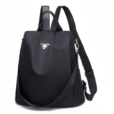 Women's Fashion Solid Waterproof Oxford Bags Large Capacity Anti-theft Zipper Backpack - Marfuny