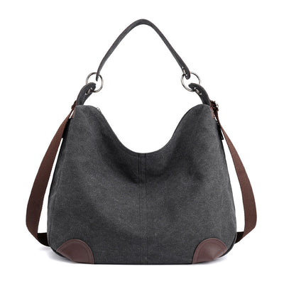 Women's Fashion Canvas Solid Large Capacity Multifunctional Zipper Handbags - Marfuny