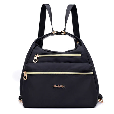 Women's Fashion Solid Waterproof Nylon Bags Large Capacity Multifunctional Zipper Backpack (Get 2nd one 20% off) - Marfuny