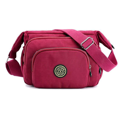 Women's Vacation Waterproof Nylon Bags Multi-pocket Solid Zipper Crossbody Bags(Get 2nd one 20% off) - Marfuny