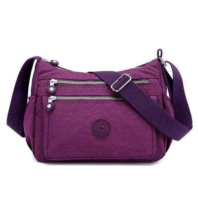 Women's Fashionable Nylon Large Capacity Waterproof Multifunctional Zipper Crossbody Bags - Marfuny