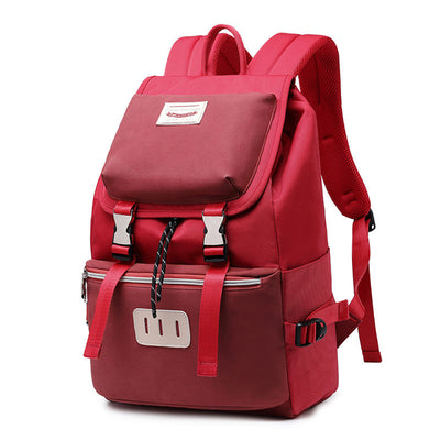 Women's Fashion College style Waterproof Oxford Bag Large Capacity Multi-pocket Zipper Backpack - Marfuny