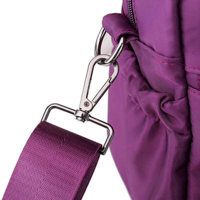 Women's Fashion Solid Waterproof Nylon Bags Multi-pocket Multifunctional Zipper Crossbody Bags - Marfuny