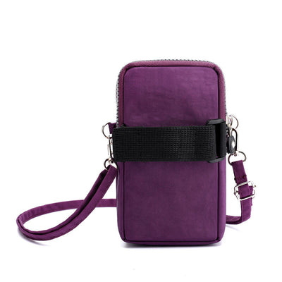 Women's Fashion Solid Waterproof Nylon Bags Multifunctional  Mobile Phone Bags - Marfuny