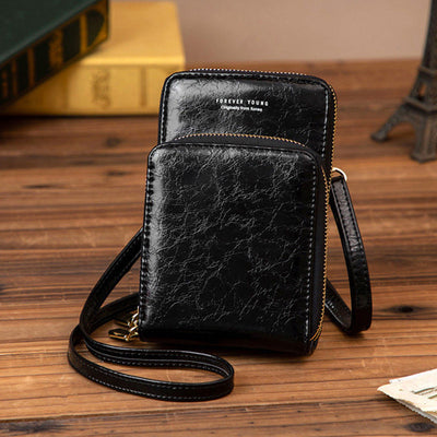 Women's Fashion Waterproof Bag Solid Multi-pocket Zipper Phone Bags - Marfuny