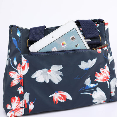 Women's Fashion Waterproof Nylon Bags Print Multifunctional Multi-pocket Zipper Handbag - Marfuny