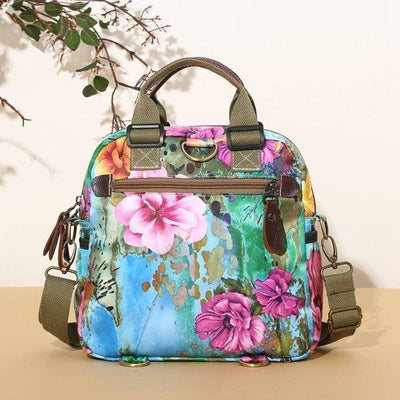 Women's Fashion Waterproof Nylon Bags Leisure Style Outdoor Flower Pattern Multifunctional Backpack(Get 2nd one 20% off) - Marfuny