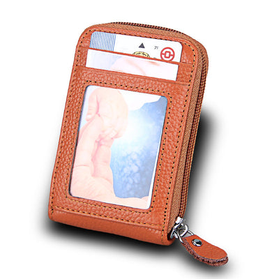 🔥 BUY 1 GET 1 FREE🔥Genuine Leather RFID Wallet Multiple Card Slots Coin Purse