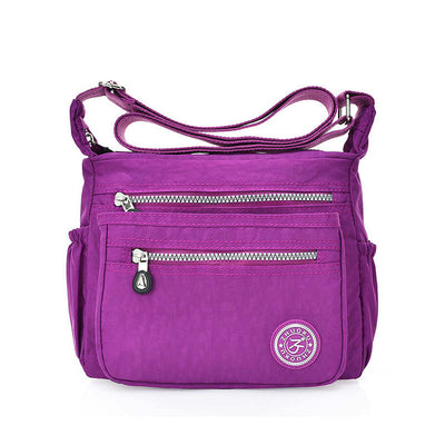 Women's Fashion Solid  Waterproof Nylon Bags Pocket Multifunctional Zipper Crossbody Bags - Marfuny