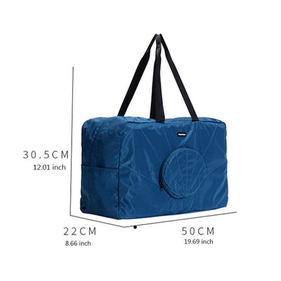 Women's Fashion Solid Waterproof Polyester Bags Large Capacity Zipper Travel Storage Bags - Marfuny