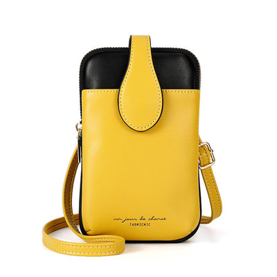 Women's Classic Soft Waterproof Bags Contrast Color Multifunctional Zipper Phone Bags - Marfuny