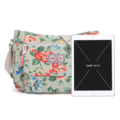 Women's Casual Print Waterproof Nylon Bags Large Capacity Multifunctional Zipper Crossbody Bags - Marfuny