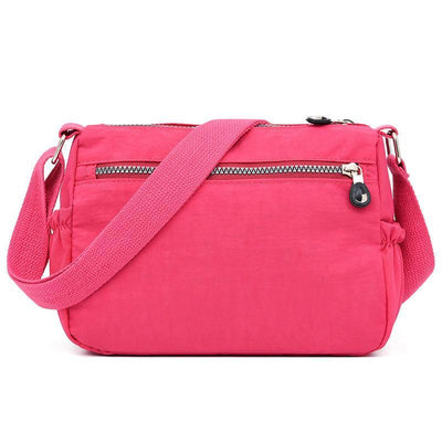 Women's Stylish Waterproof Nylon Bag Solid Multifunctional Zipper Crossbody Bags - Marfuny