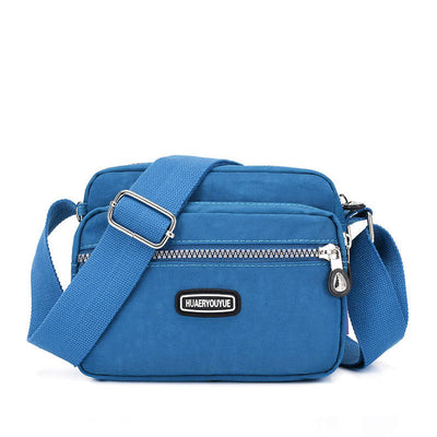 Fashion Nylon Solid Waterproof Multi-Pocket Multifunctional Zipper Crossbody Bag - Marfuny