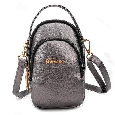 Women's Casual Solid Waterproof Multi-pocket Zipper Crossbody Bags - Marfuny