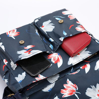 Women's Fashion Print Waterproof Nylon Bags Large Capacity Multi-pocket Cover Crossbody Bags - Marfuny