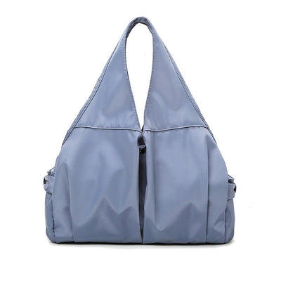 Women's Classic Solid Waterproof Oxford Bag Dry And Wet Separation Large Capacity Multi-pocket  Zipper Travel Handbags - Marfuny