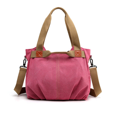 Women's Fashion High Quality Canvas Large Capacity Multi-pocket Zipper Handbags - Marfuny